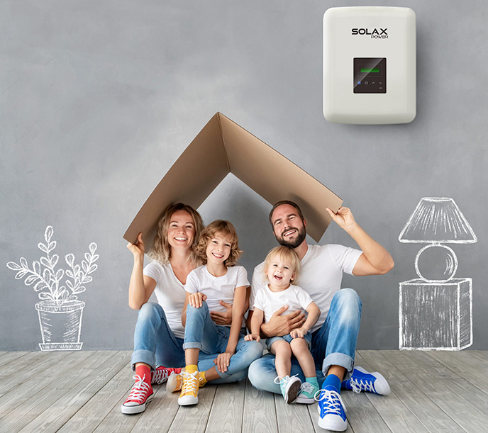 Inverter Hòa Lưới 5.0KW SOLAX SINGLE PHASE X1 BOOST ( LCD+ Wifi 2.0 + DC Switch )