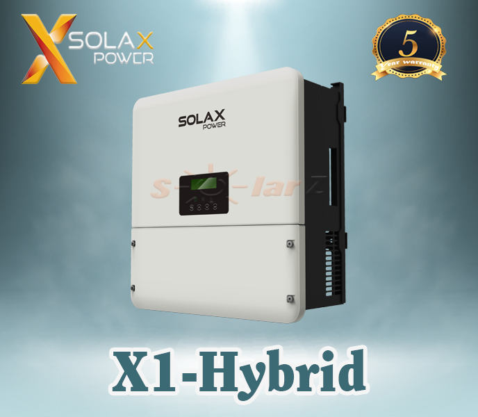 Inverter Hòa Lưới 5KW SOLAX SINGLE PHASE HYBRID ( LCD+ Wifi 2.0 + DC Switch )