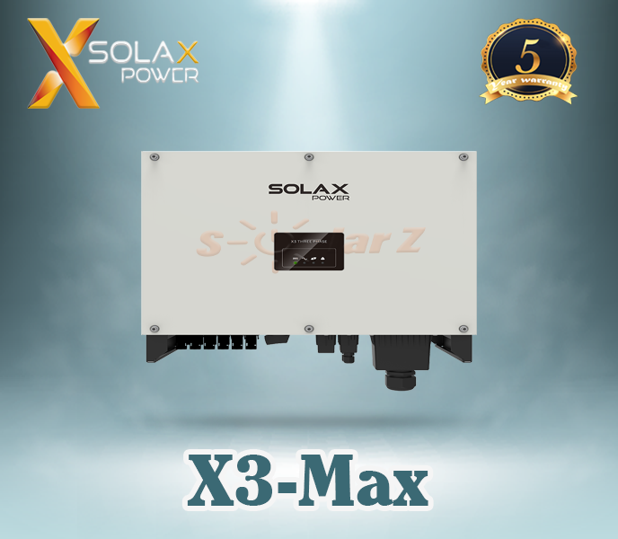Inverter 30KW SOLAX - THREE PHASE ( LCD + Wifi 2.0 + DC Switch )